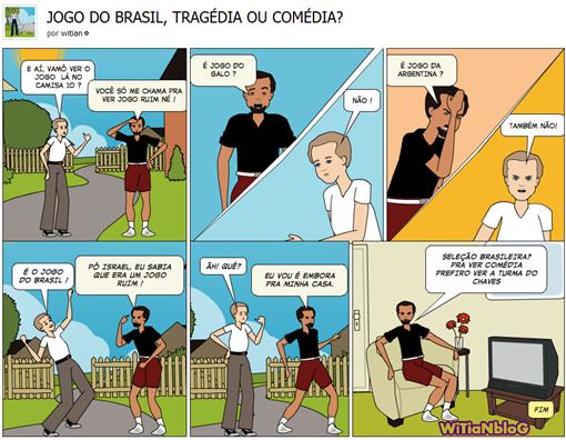 Seleção brasileira de futebol, TRAGÉDIA OU COMÉDIA - JOGO DO BRASIL