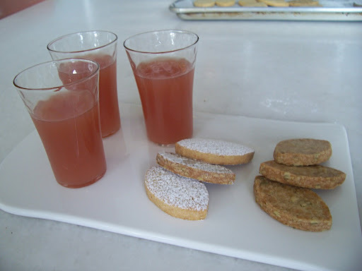 The cider and cookies during development.