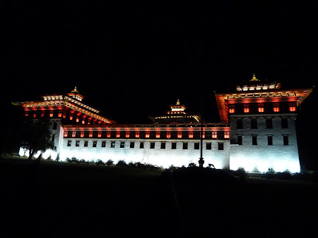 Thimphu dzong by night