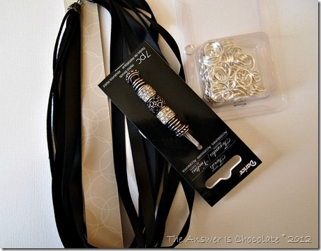 Ribbon Necklace Supplies