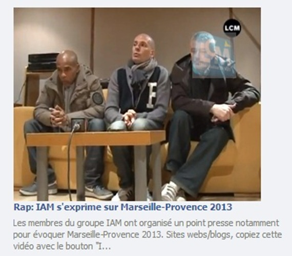 IAM parla de Marselha 2013