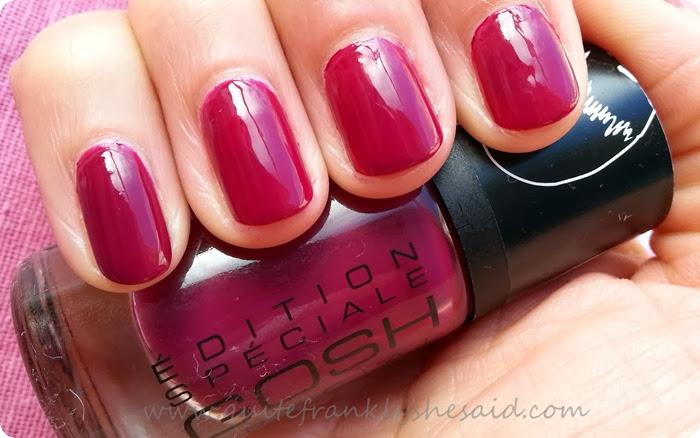 GOSH nail polish nail lacquer berry me