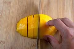 Slice across widthwise