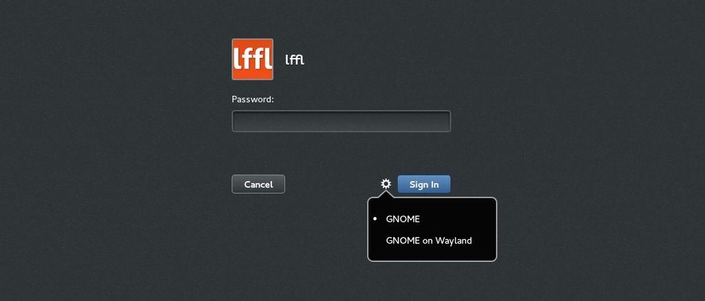 GDM Sessione Gnome con X.org e Wayland