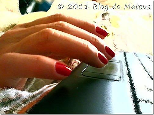 Unhas vermelhas mulher moda Blog do Mateus