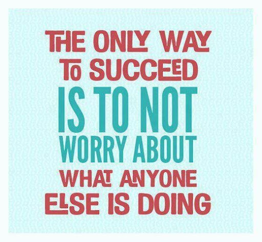 the_only_way_to_succeed_is_to_not_worry_about_what_anyone_else_is_doing_quote