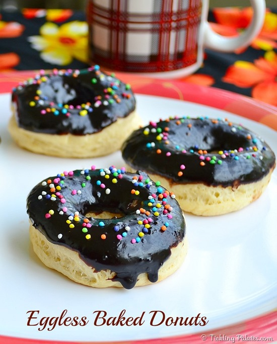 Eggless Baked Donuts