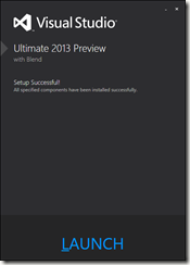 Visual Studio 2013 preview installed final