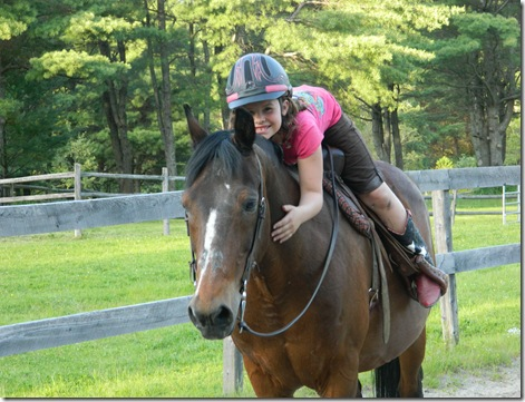 Katy and Taylor riding Lil' Bud 2011 012
