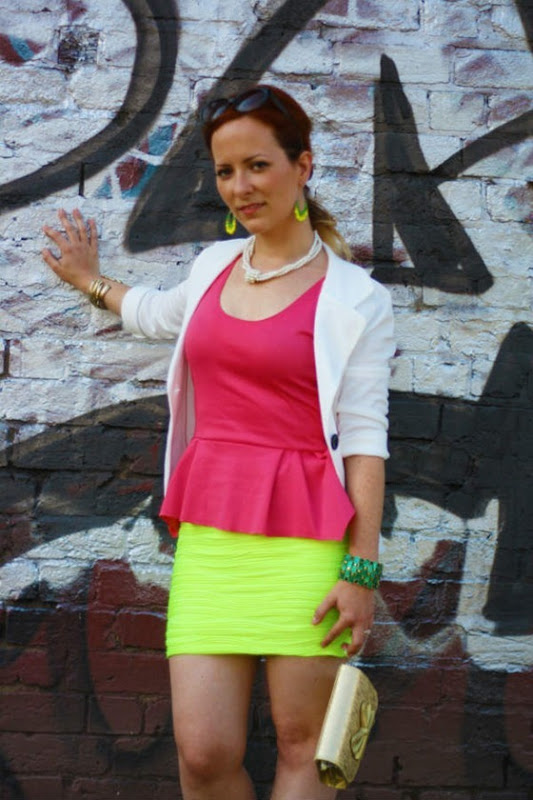 OOTD Neon Yellow & Coral - Elegant Colour Blocking (1)