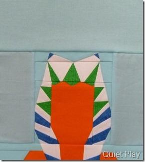 Paper pieced LEGO Ahsoka Tano