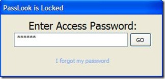 PassLook protetto con master password