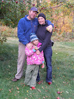 Family apple picking in Quebec