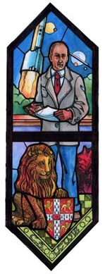 C.S. Lewis Stained Glass Window from St. George's Episcopal Church in Dayton, Ohio