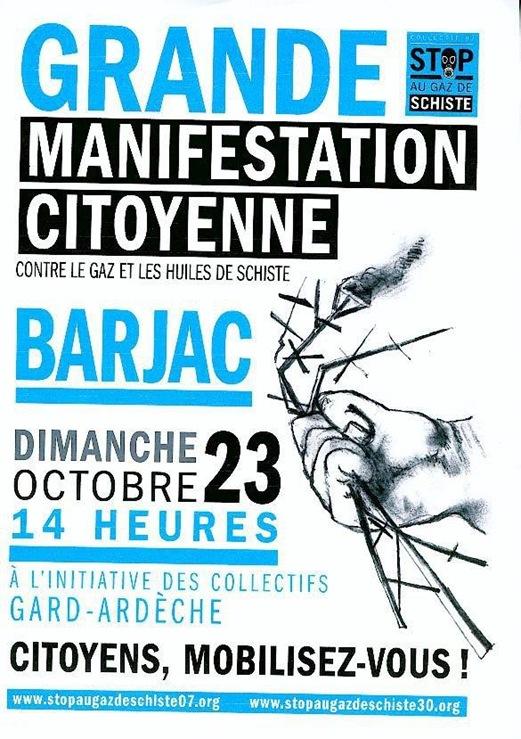 Manifestacion contra lo gas de sistre Gard-Ardècha