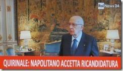 Giorgio Napolitano eleito presidente de Itália. Abr. 2013