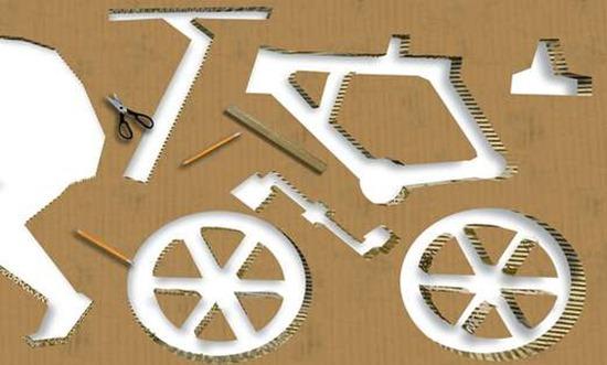 Bicicleta de papelão 12