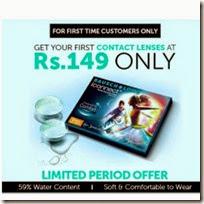 Lenskart : Buy Baush & Lomb iConnect Contact Lenses 1 Box Rs. 149