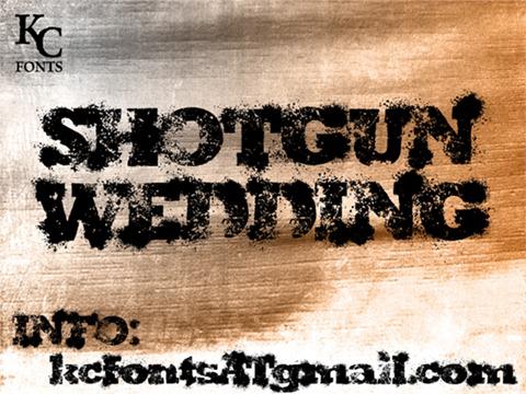 16-Shotgun-Wedding-font