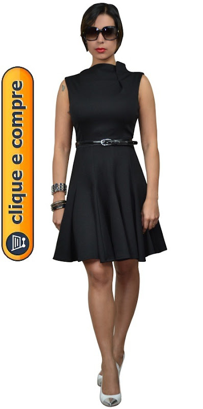 vestido gola escafandro moda de novela estilo priscila - 01 b