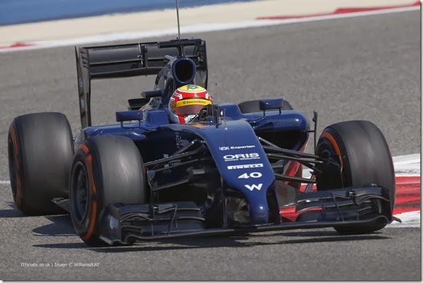 2014 F1 Pre Season Test 2 - Day 4 Bahrain International Circuit, Bahrain. Saturday 22 February 2014. Felipe Nasr, Williams FW36 Mercedes. World Copyright: Andrew Ferraro/Williams F1. ref: Digital Image _79P3603