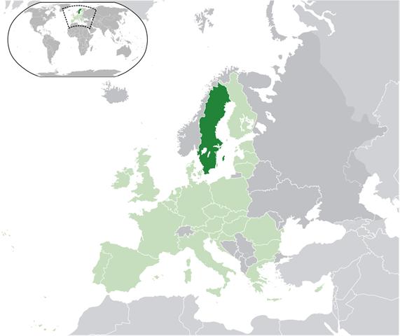 peta Swedia