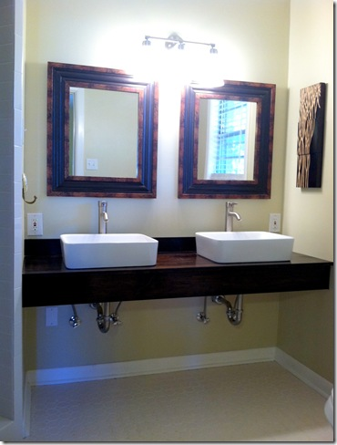 Live The Home Life: Master Bath: DIY Floating Vanity
