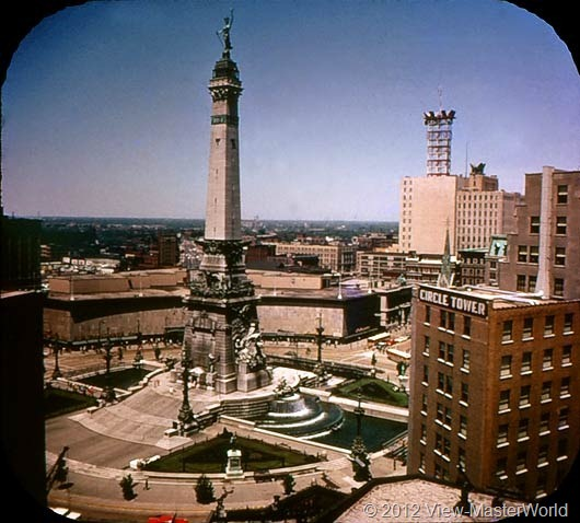 View-Master Indiana (A570), Scene 2: Soldiers and Sailors Monument