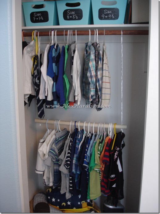 Easy Kids Closet Organization7