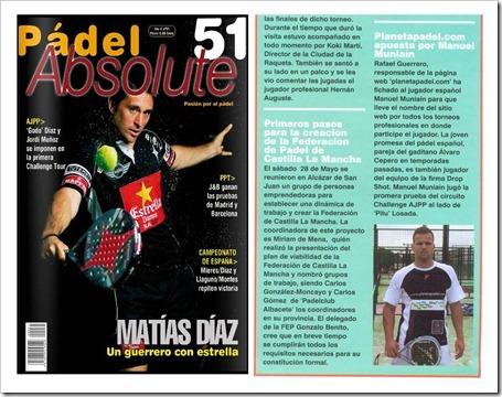 Planeta Padel Web y Manuel Muniain recorte de prensa Padel Absolute 51