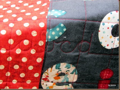 Jeane's ABC quilt detail