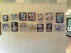 Asociatia artistilor plastici din Bucuresti - Expozitie de grafica in Herastrau - Desene facute cu pixul