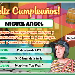 Tarjeta del Chavo del Ocho – Invitaciones de Fiesta Infantil para imprimir