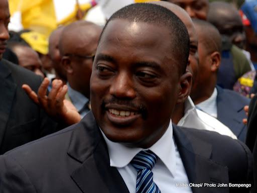 Le président Joseph Kabila Kabange lors du dépôt de sa candidature au bureau de réception et de traitement des candidatures à la présidentielle 2011 le 11/09/2011 à Kinshasa. Radio Okapi/ Ph. John Bompengo