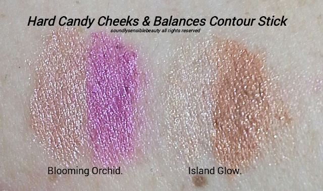 Hard Candy Highlight & Contour Duo Blush Stick Swatches of Shades 861 & 929