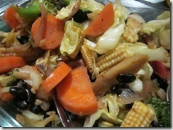 mixed veggies with black beans, 240baon