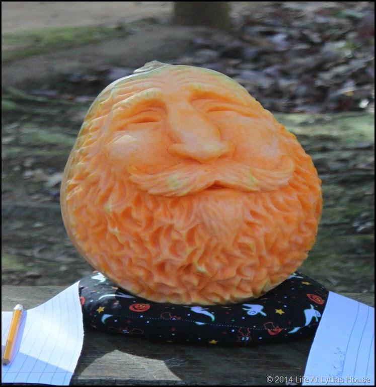 carved pumpkin head 2