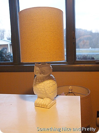 Owl lamp and basket 007
