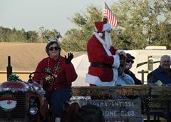 Santa's naughty list rides along with him