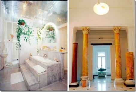 Bathroom and Hall in Sorrento villa