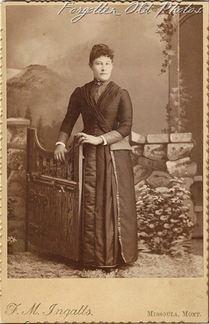 Cabinet Card Montana Woman DL Antiques