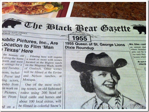 Black Bear Diner Gazette Menu