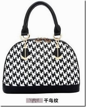 U2928 White Black Plaid (217.000) - PU Leather, 25 x 22 x 14,