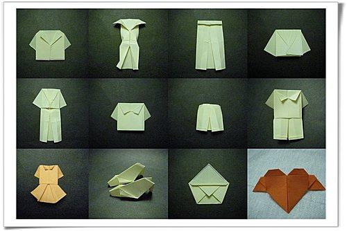 Eagle 摺紙: 摺紙教學 紙衣、褲、裙、鞋、皮包