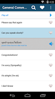 Screenshot of Learn Thai Pro - Phrasebook