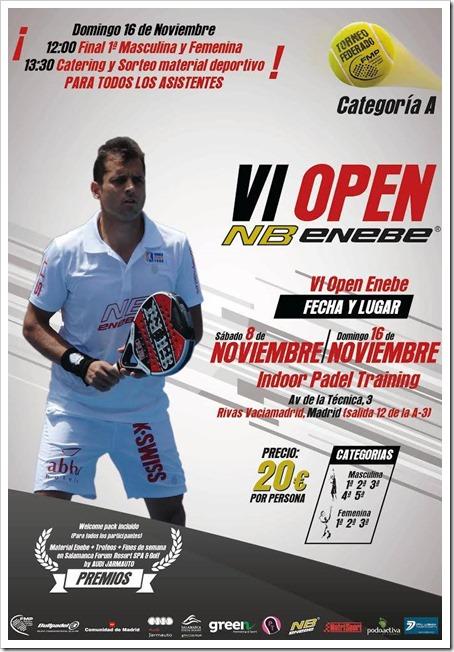Torneo Federado VI Open Enebe del S8 al D16 noviembre en Indoor Padel Training.