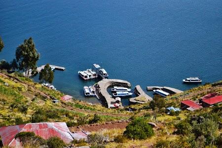 Insula Taquille pe lacul Titicaca