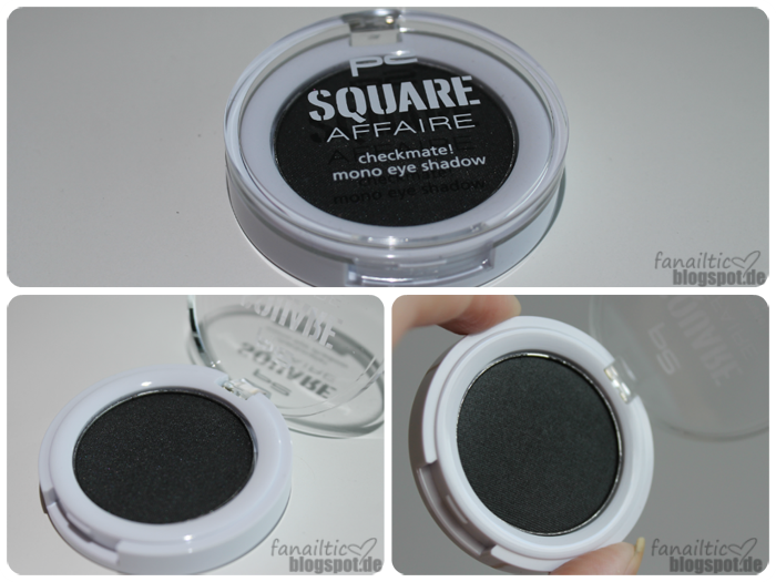 "p2 ""square affaire"" checkmate! mono eyeshadow ""black cleverness"""