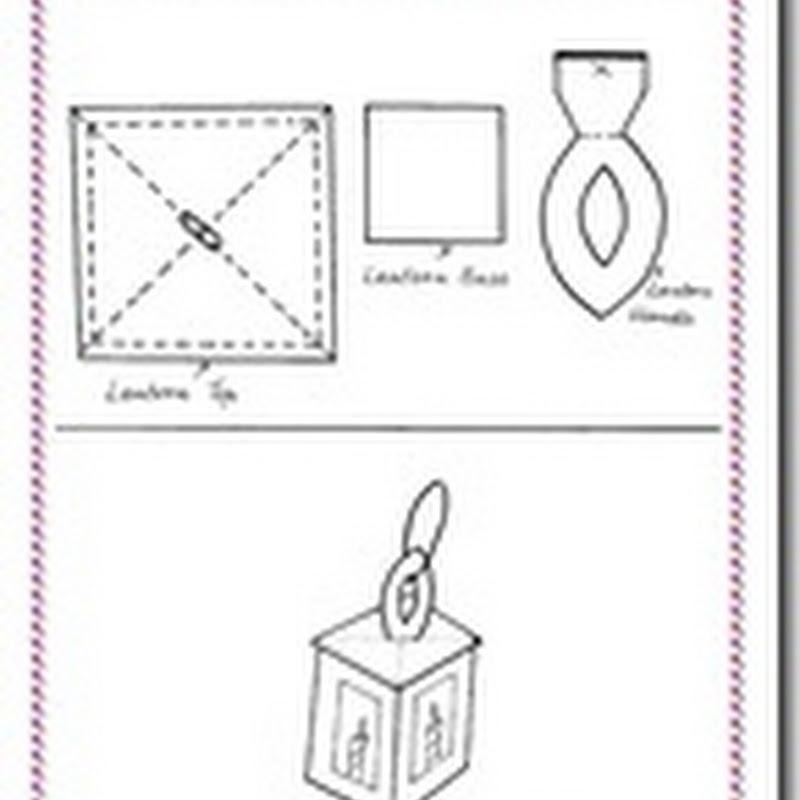 Manualidades faroles de Navidad en cartulina