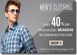 Snapdeal fashion offer: Flat 40% OFF on Lee, Wrangler, John Players, Wills Lifestyle Apparels & Accessories